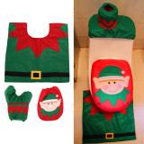 Christmas Decoration Santa Snowman Toilet Seat Cover - thumbnail 1