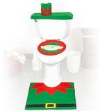 Christmas Decoration Santa Snowman Toilet Seat Cover - thumbnail 3