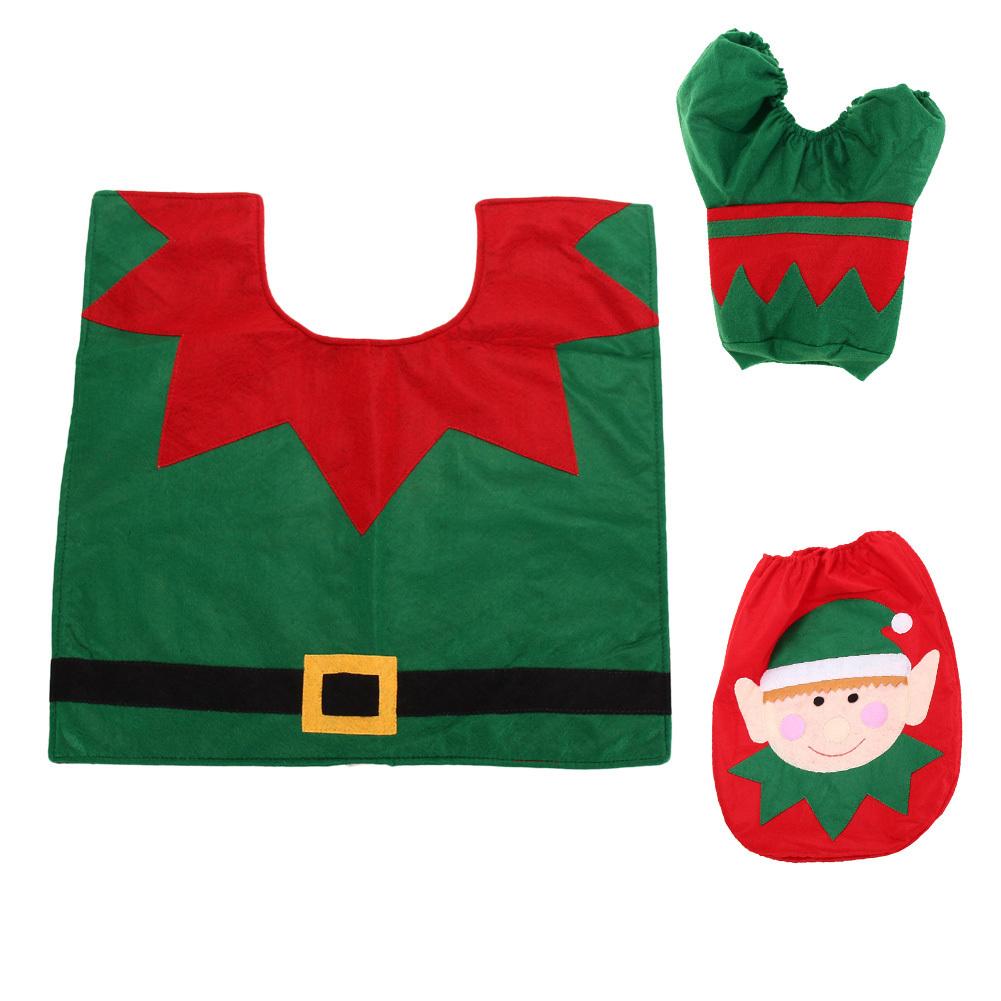 Christmas Decoration Santa Snowman Toilet Seat Cover - thumbnail