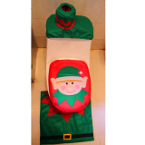 Christmas Decoration Santa Snowman Toilet Seat Cover - thumbnail 2