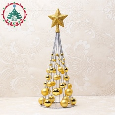 christmas decoration supplies mini small christmas tree 38cm electroplated tree ball tower intl