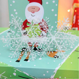 Christmas Decorations Supplies White Snow Snowflakes Hanging Ornaments 6cm Set of 60 - thumbnail 2