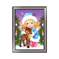 Christmas Girl DIY 5D Diamond Embroidery Painting Cross Stitch Home Decor Crafts - intl