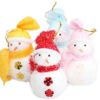 Christmas Holiday Seasonal Winter Pine Tree Door Decoration Hang Snowman Xmas (Intl)