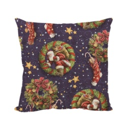 Christmas Linen Square Throw Flax Pillow Case Decorative Cushion Pillow Cover - intl