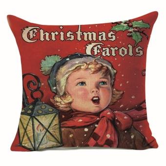 Christmas Pillow Case Sofa Waist Throw Cushion Cover Home Decor - intl