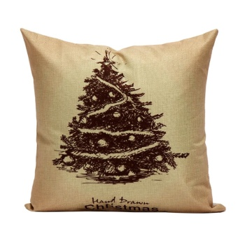 Christmas Pillow Case Sofa Waist Throw Cushion Cover Home Decor J - intl