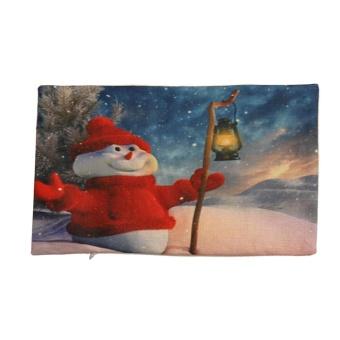 Christmas Pillow Sofa Waist Throw Cushion Cover Home Decor A - intl