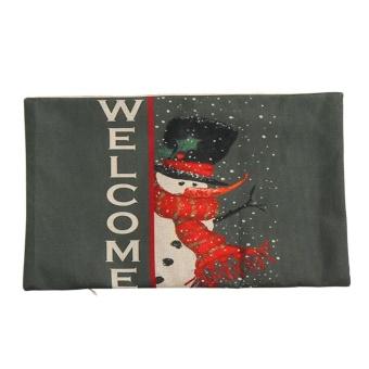 Christmas Pillow Sofa Waist Throw Cushion Cover Home Decor C - intl