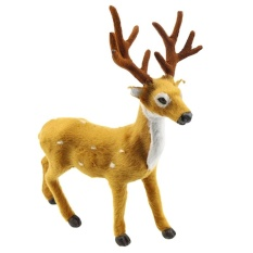 christmas reindeer decor simulated standing reindeer xmas decoration party favors brown1515