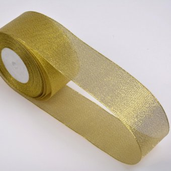 Christmas Ribbon Red Green Gold Double Sided Gold 10mm - intl