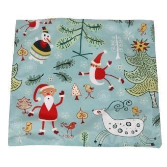 Christmas Santa Claus Pillow Case Sofa Waist Throw Cushion Cover Home Decor E - intl