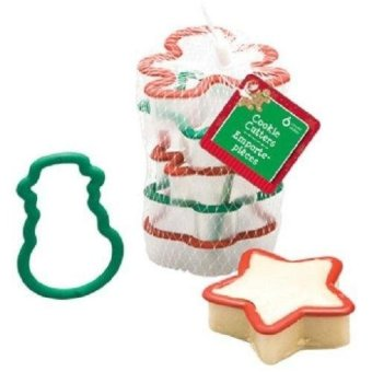 Christmas Shapes Plastic Cookie Cutters, 6-Pc. Sets - intl