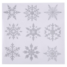 Christmas Snowflake Wall Sticker Decal For Home Window Shop Glass  Decoration (Silver)   Intl
