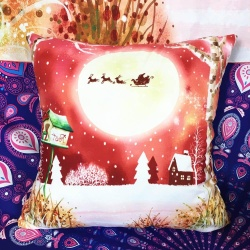 Christmas Sofa Bed Square Pillow C - intl