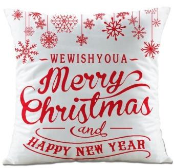 Christmas Super Soft Square Throw Pillow Case Decorative Cushion Pillow Cover E - intl