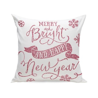 Christmas Super Soft Square Throw Pillow Case Decorative Cushion Pillow Cover F - intl