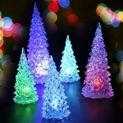 Christmas Tree Ice Crystal Colorful Changing  Desk Decor