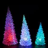 Christmas Tree Ice Crystal Colorful Changing LED Desk Decor (Intl) - thumbnail 4
