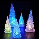 Christmas Tree Ice Crystal Colorful Changing LED Desk Decor (Intl) - thumbnail 3