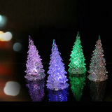 Christmas Tree Ice Crystal Colorful Changing LED Desk Decor (Intl) - thumbnail 1