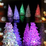 Christmas Tree Ice Crystal Colorful Changing LED Desk Decor (Intl) - thumbnail 5