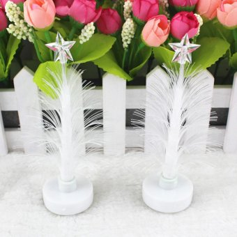 Christmas Tree Ice Crystal Colorful LED Desk Decor Table 7 Color Xmas Lamp Light- Intl