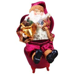 Christmas Xmas Sitting Santa Claus Doll Toy Home Room Ornament Decoration