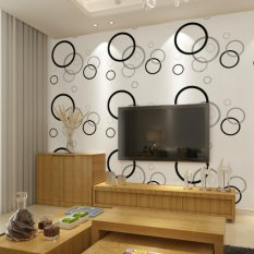 Circle Patterned Self-adhesive Wallpaper