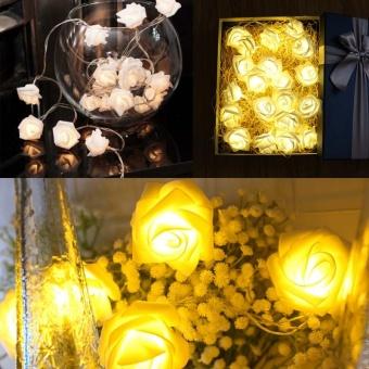 Cocotina 20 LED Battery Operated String Flower Rose Fairy Light Wedding Room Garden Christmas Decor - intl