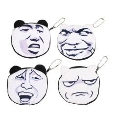 Coin Cartoon Facial Funny Humorous Kids Children Wallet Earphone Holder Portable - intl