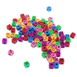 Colorful 6mm Super Mini Gaming Dice (50-Pack)