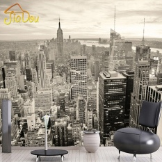 Wall stickers for sale wall decals prices brands review in custom mural european retro building mural bedroom living room tv backdrop new york black and white voltagebd Images