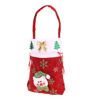 Cute Kids Christmas Candy Pouch Bags Christmas Gift Bags  03 Style (Intl)