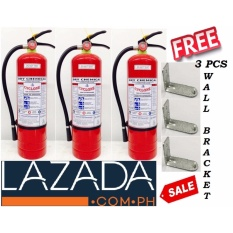 Cyclone Fire Extinguisher 10lbs Abc Dry Chemical (red) Bundle Of 3pcs By Chensan Enterprises.