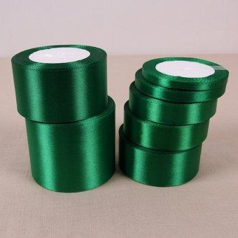 Dark green 25 Yards Silk Satin Ribbon Wedding Party Decoration Gift Wrapping Christmas Year Apparel Sewing Fabric DIY 20mm - intl