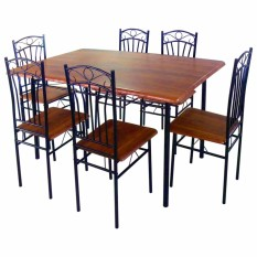 Dining Set 6seater Code DS 022 Coffee
