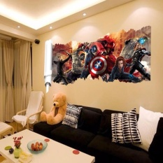 DIY 3D Marvels The Avengers Wall Sticker Decals for Kids Room HomeDecor Wallpaper Poster Nursery Wall & Wall Stickers for sale - Wall Decals prices brands u0026 review in ...