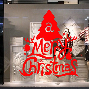 DIY Christmas Wall Home Vinyl Window Wall Stickers Decal Decor Removable Red M-42