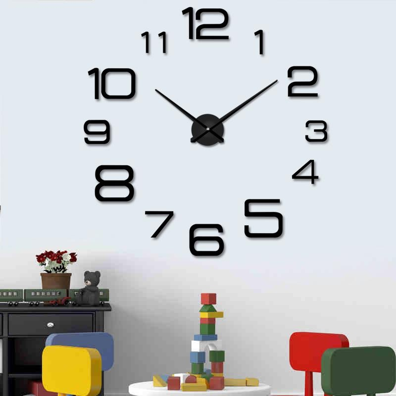 f5d0cbd09 DIY Large Wall Clock Modern Design Decorative Mirror Digital Relogio De  Parede 3D Wall Watch Stickers