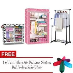DIY Non-Woven Foldable Portable Storage Cabinet and Amazing High Quality 6 Layer Double Capacity Shoe Rack Cabinet (Whitedog) also Adjustable Double Pole ...