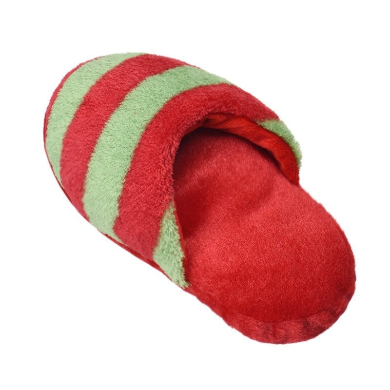 Dog Toy Pet Puppy Chew Squeaky Squeaker Sound Plush Slipper Shape (Red and Green) product preview, discount at cheapest price
