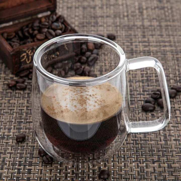 Double Wall Glass Coffee Mug 250 Ml Intl Lazada Ph