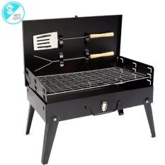 4d2f7e9a298 DS190 Portable Folding Barbecue Grill with Barbecue Utensils