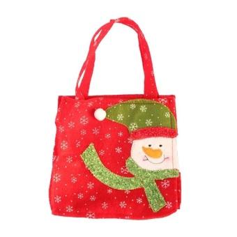 Eason Personalized Christmas Festival Party Toys Cloth Gift Craft Bag 16*16cm Christmas Santa Hot Sale - intl