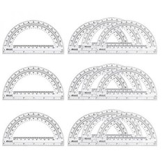 Eboot 12 Pack Plastic Protractors  Inches Clear