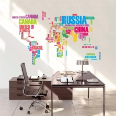 Wall stickers for sale wall decals prices brands review in english letter world map wall sticker decal wallpaper pvc mural arthouse decoration home picture wall paper gumiabroncs Image collections