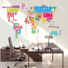 Wall stickers for sale wall decals prices brands review in coromose english words world map classroom home wall removable sticker pvc art decal decor poster specification gumiabroncs Gallery