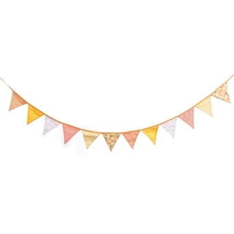 ETOP  Flags Fabric Bunting Pennant Flags Party Decoration Banner Christmas Party Supplies Events Wedding Decoration (Multicolor) (Intl)