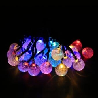 ETOP Solar Powered 30 LED String Light for Room Garden Christmas Party (Yellow) (Intl)